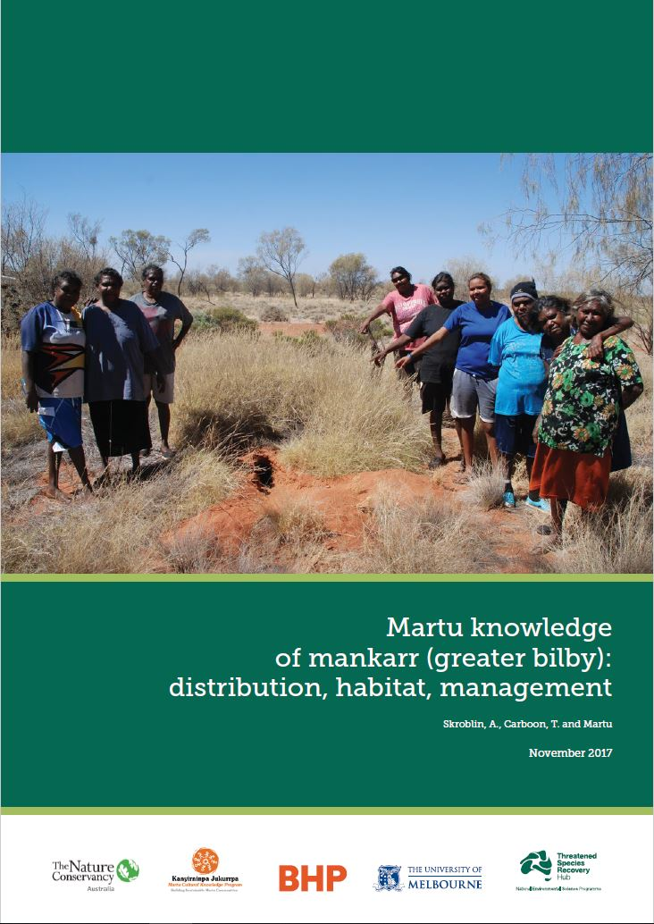 Martu knowledge of Mankarr (Greater Bilby):